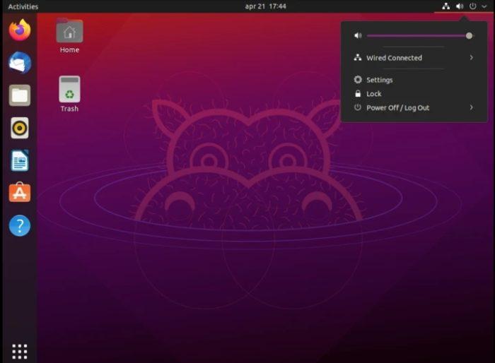 Ubuntu 21.04 Hirsute Hippo (imagem: divulgação/Canonical)