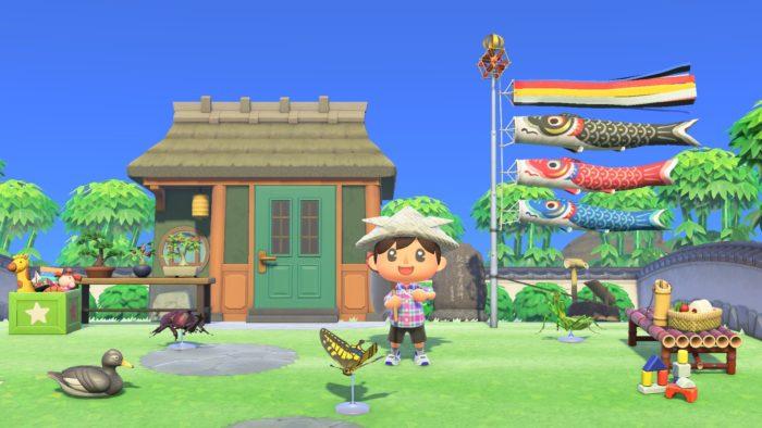 Novos itens sazonais chegam com update de abril (Imagem: Divulgação/Nintendo)