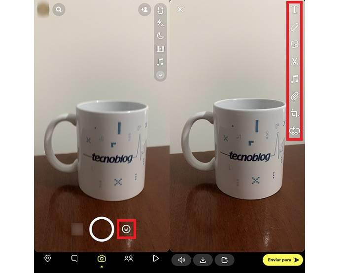 Como gravar vídeos no Snapchat / Reprodução / Paula Alves