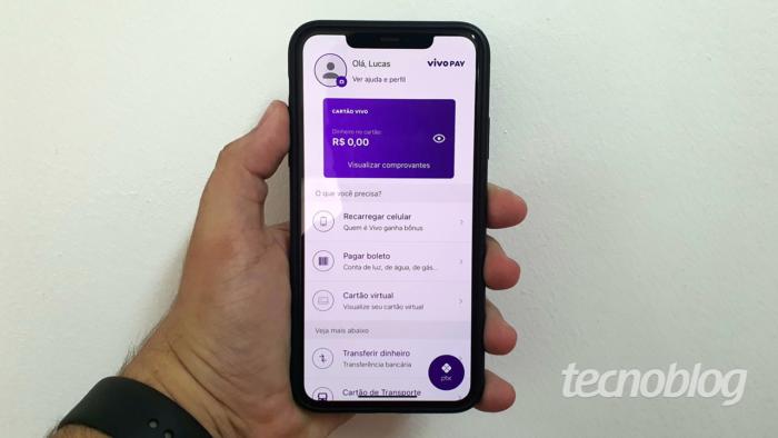 Vivo Pay tem Pix, cartão virtual pré-pago e dá bônus de internet (Imagem: Lucas Braga/Tecnoblog)