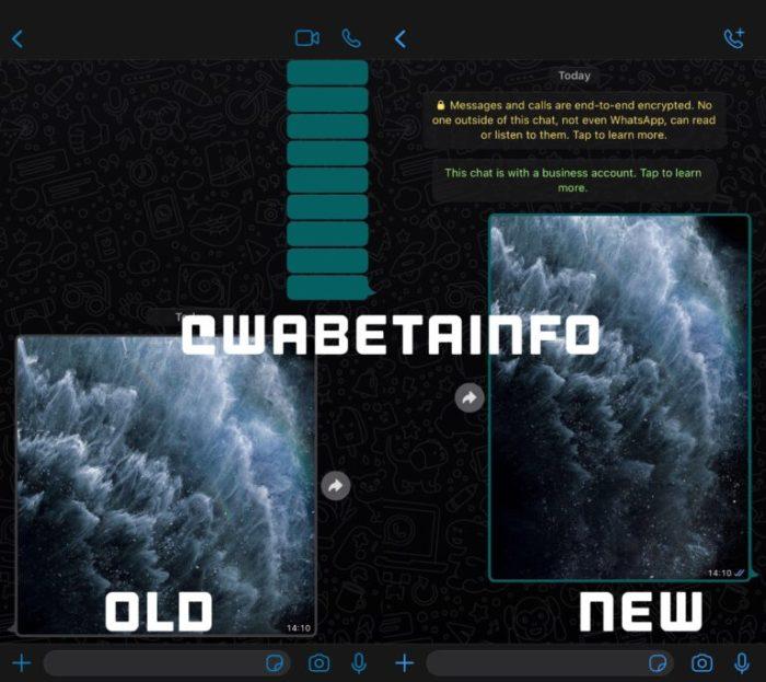 WhatsApp Beta dá mais espaço para imagens em conversas no Android e iOS (Imagem: Reprodução/WABetaInfo)
