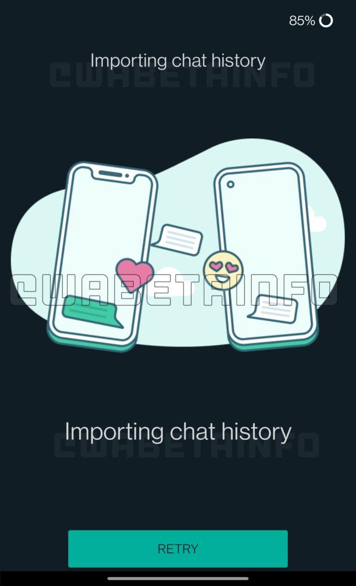 WhatsApp testa migração de chats (Imagem: reprodução/WABetaInfo)
