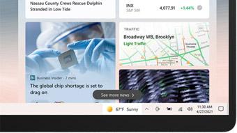 Windows 10 recebe notícias e previsão do tempo na barra de tarefas