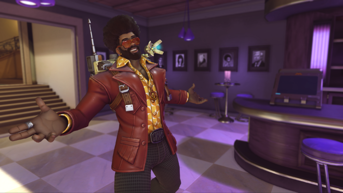 Baptiste Modernoso é uma das skins do Aniversário de Overwatch de 2021 (Imagem: Divulgação/Blizzard)