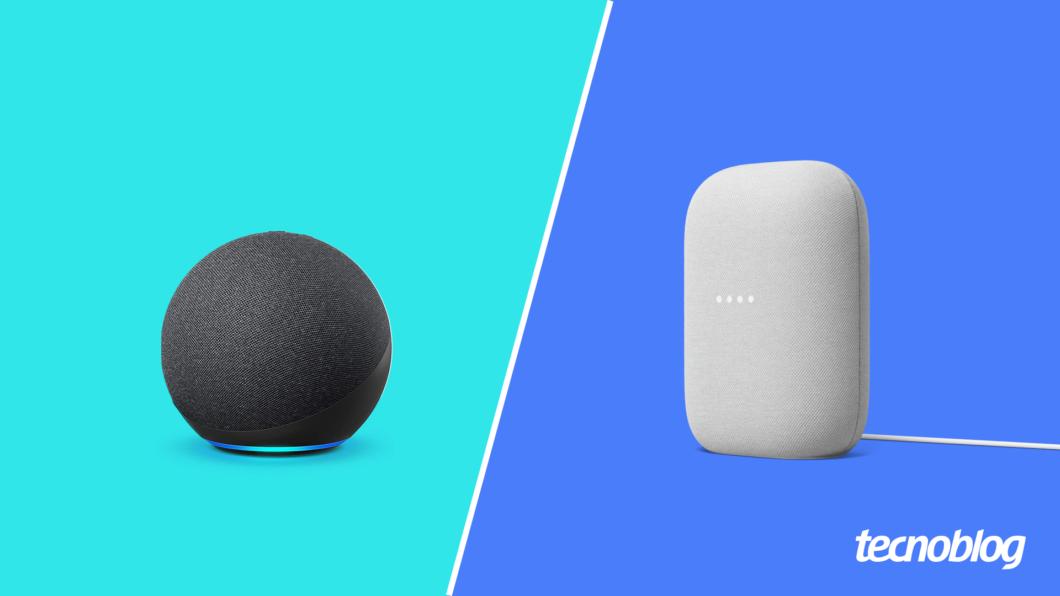 Amazon Echo ou Google Nest Audio: qual é o melhor? (Imagem: Vitor Pádua/Tecnoblog)