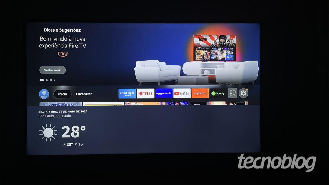 Amazon Fire TV Stick 4K (Imagem: Darlan Helder/Tecnoblog)