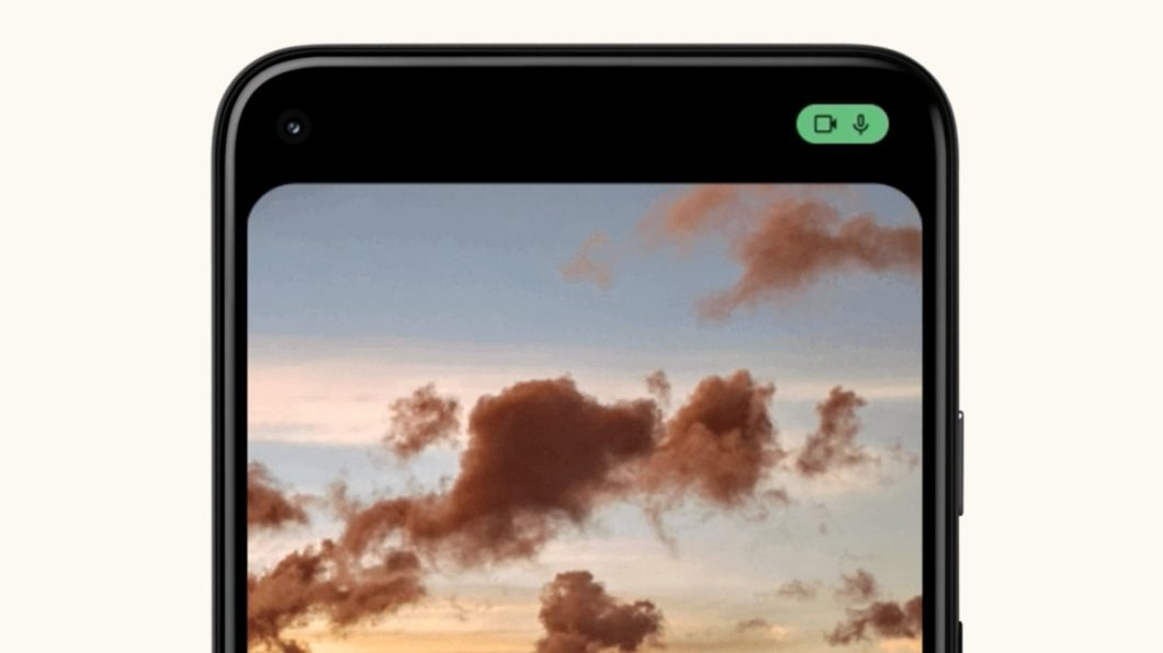 Android 12 avisa se microfone ou câmera estão sendo usados (Imagem: Divulgação / Google)