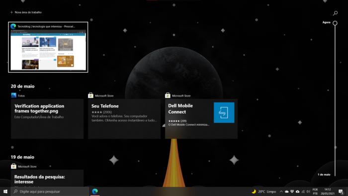 Linha do Tempo no Windows 10 (Imagem: reprodução)