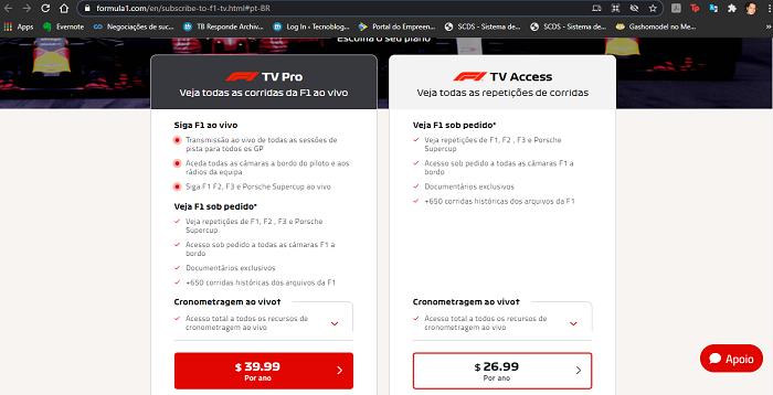 Como assinar a F1 TV (Imagem: Leandro Kovacs/Reprodução)
