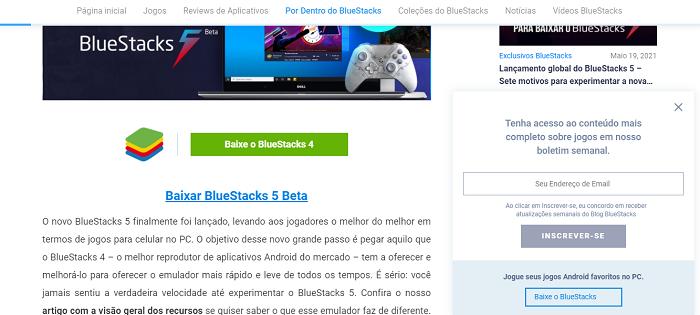 Como baixar e configurar o BlueStacks (Imagem: Leandro Kovacs/Reprodução)