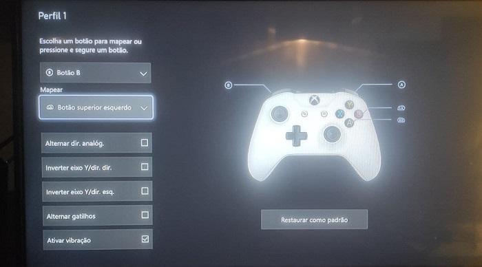 Como remapear os controles do Xbox One e Series (Imagem: Leandro Kovacs/Tecnoblog)