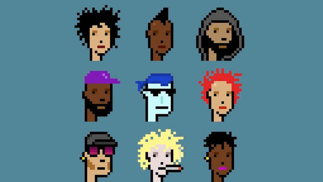 Coleção de NFTs de avatares CryptoPunks (Imagem: Reprodução/Christie's)