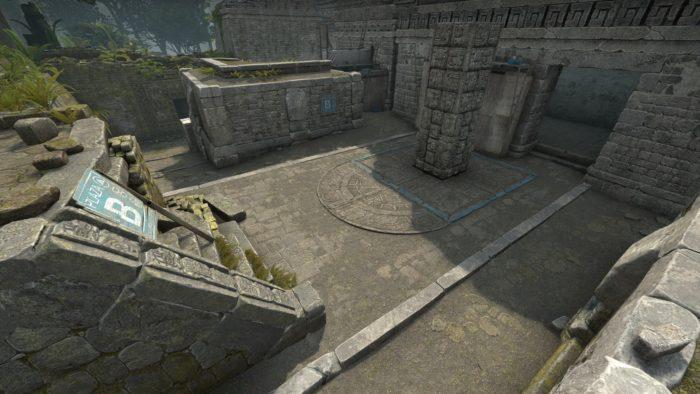 Ancient, em CS:GO, tem planaltos e túneis de pedra (Imagem: Divulgação/Valve)