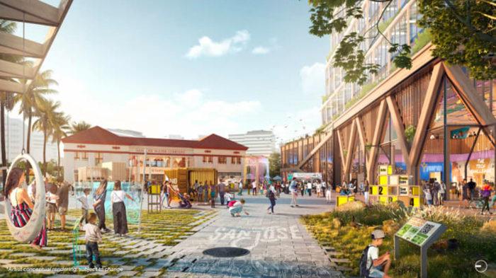 Projeto de Campus do Google em San Jose (Imagem:Google)