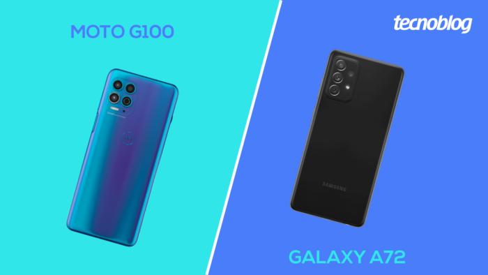 Moto G100 ou Galaxy A72? (Imagem: Vitor Pádua/Tecnoblog)