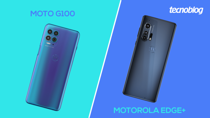 Moto G100 vs Motorola Edge+ (Imagem: Vitor Pádua)