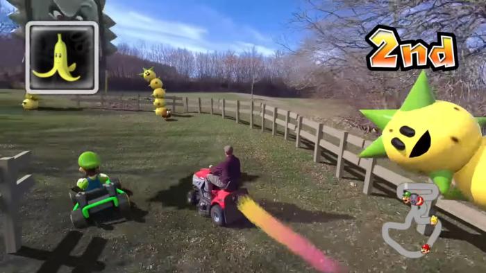 O cineasta Ian Padgham criou uma pista de Mario Kart na vida real (Imagem: Reprodução/YouTube origiful)