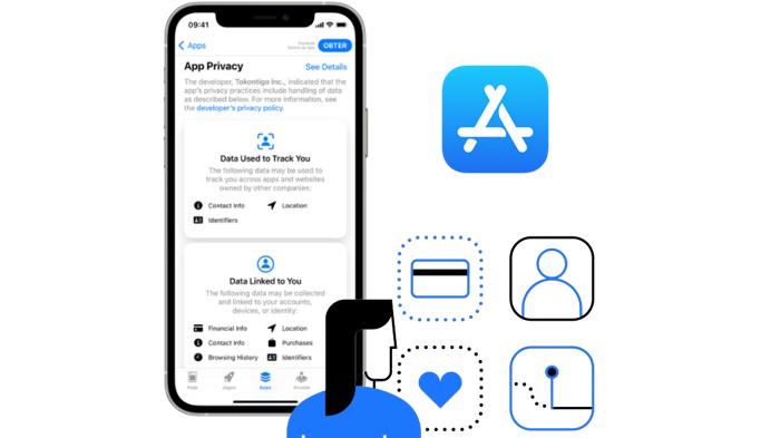 Privacidade de aplicativos na App Store em detalhes (Imagem: Reprodução/Apple)