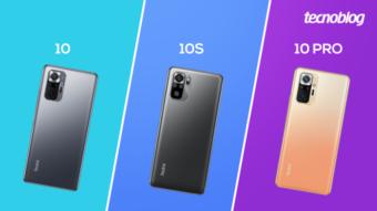Comparativo: Redmi Note 10, 10S ou 10 Pro; qual é a diferença?