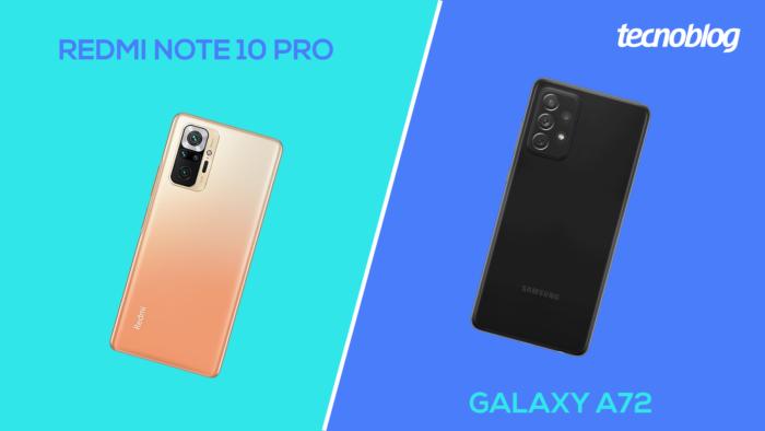 Redmi Note 10 Pro vs Galaxy A72 (Image: Vitor Pádua / Tecnoblog)