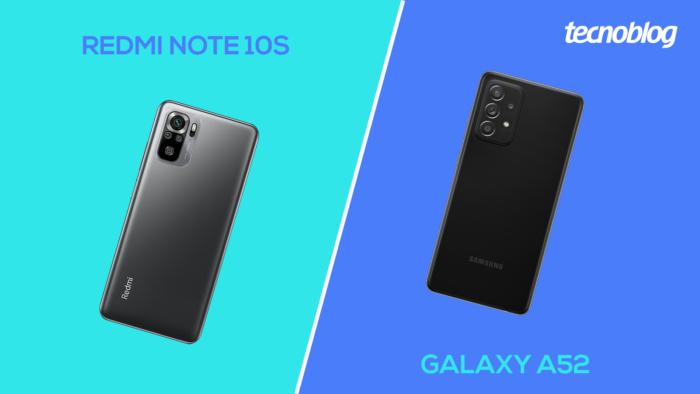 Redmi Note 10S vs Galaxy A52 (Imagem: Vitor Pádua/Tecnoblog)