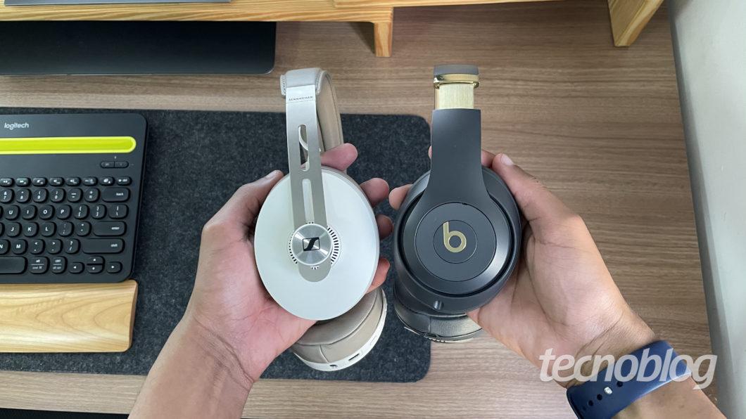 Sennheiser Momentum 3 e Beats Studio 3 Wireless (Imagem: Darlan Helder/Tecnoblog)