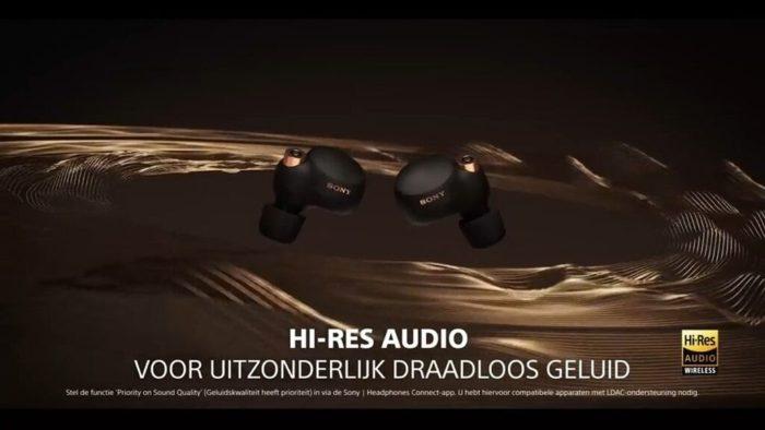 Sony WF-1000XM4 vaza em vídeo promocional (Imagem: Reprodução/YouTube)