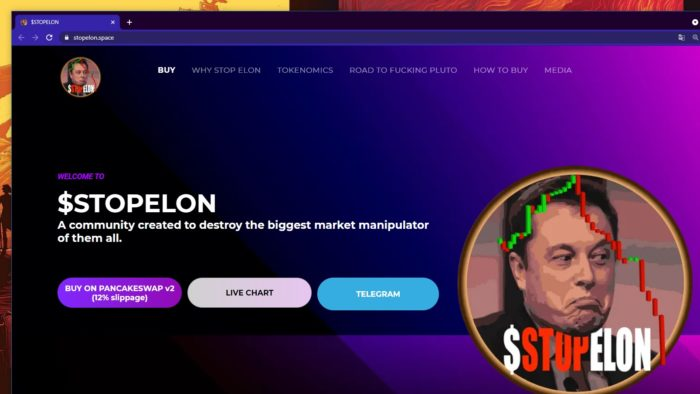 Cryptocurrency StopElon wants to take control of Tesla and take down Elon Musk (Image: Reproduction)