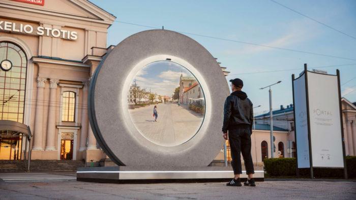 Portal que conecta Vilnius, na Lituânia, a Lublin, na Polônia (Imagem: Vilnius Go/Divulgação)