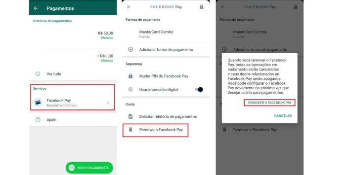 Basta alguns passos para remover o Facebook Pay do WhatsApp (Imagem: Reprodução / WhatsApp)