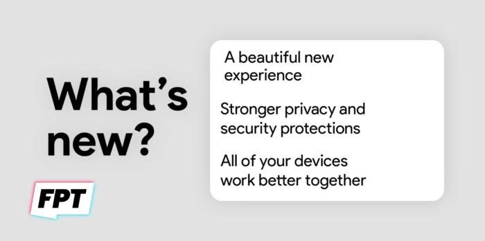 Slide vazado sobre o Android 12 (Imagem: Reprodução/Front Page Tech/YouTube)