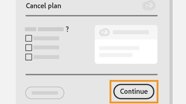 É preciso explicar o motivo do cancelamento da assinatura da Adobe (Imagem: Reprodução / Adobe)