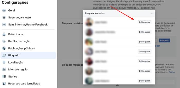 como bloquear marketplace no Facebook (Imagem: Reprodução)