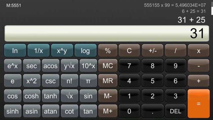 App de calculadora para o Nintendo Switch (imagem: divulgação/Nintendo eShop)