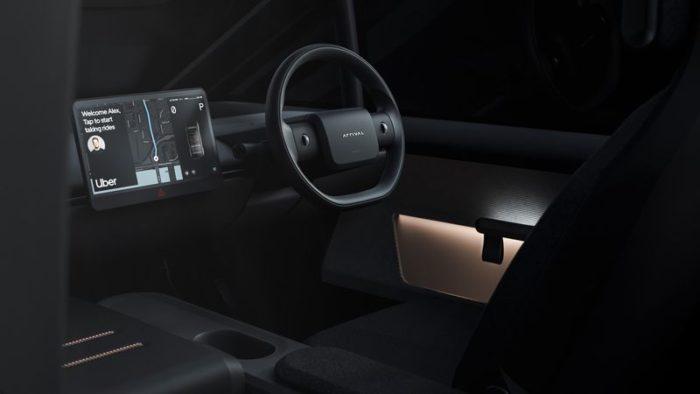 Projeto de carro elétrico da Uber e Arrival (imagem: divulgação/Arrival)