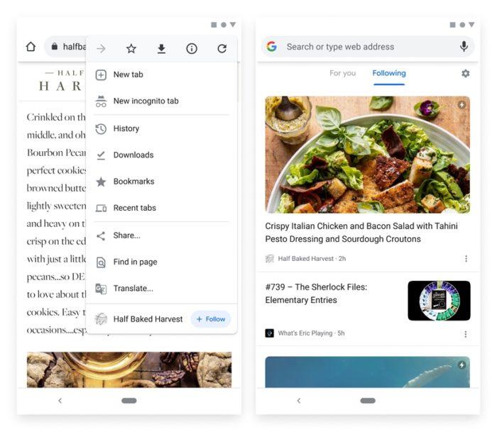 RSS no Chrome para Android (imagem: divulgação/Google)