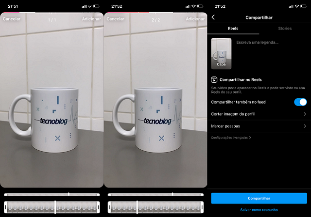 Como fazer Reels com fotos no Instagram / Paula Alves / Reprodução