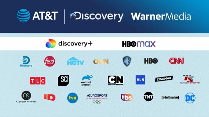 WarnerMedia e Discovery (Imagem: Reprodução/AT&T)