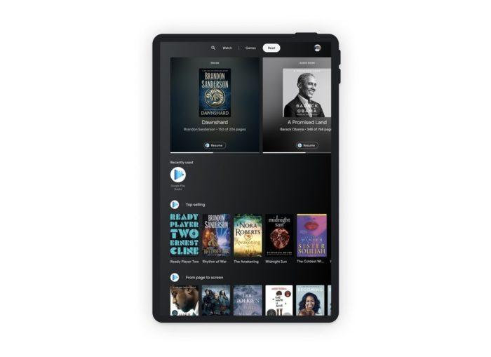 Área de livros do Entertainment Space (imagem: divulgação/Google)