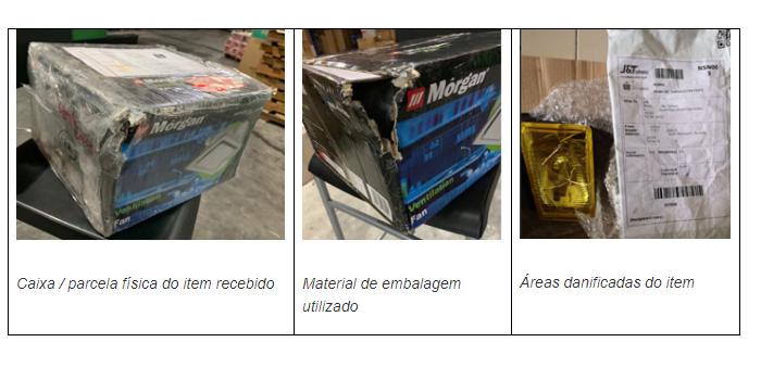 Entrega de produto danificado (Imagem: Reprodução/Shopee)