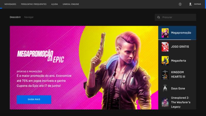 Epic Games Store inicia promoção até 17 de junho (Imagem: Reprodução)