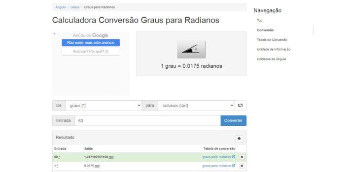 No Extra Conversion, você consegue a conversão desejada e algumas informações extras (Imagem: Reprodução / Extra Conversion)