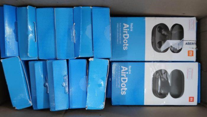 Redmi AirDots, fones TWS da <a href='https://meuspy.com/tag/Xiaomi-espiao'>Xiaomi</a> (Imagem: Divulgação / RFB)