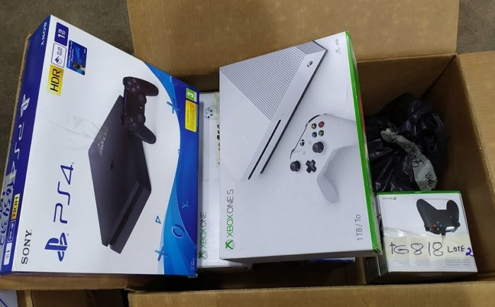 PS4, Xbox One e Switch estão sendo leiloados (Imagem: Divulgação / RFB)