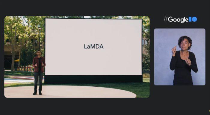Apresentação do LaMDA por Sundar Pichai, CEO do Google (imagem: reprodução/Google)