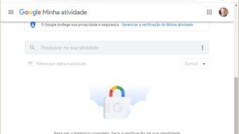 Google coloca proteção adicional no seu histórico da web, local e YouTube