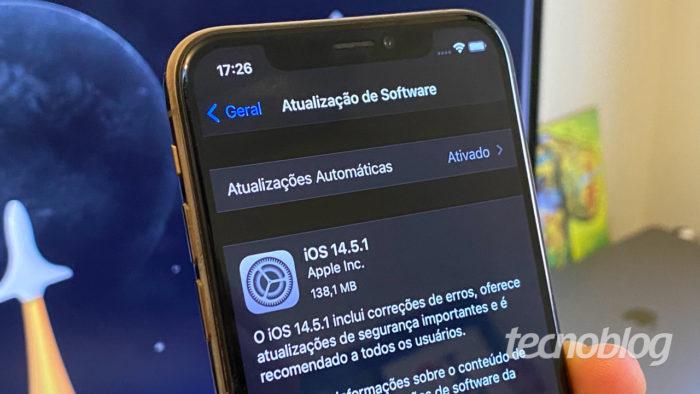 iOS 14.5.1 (Imagem: André Fogaça/Tecnoblog)