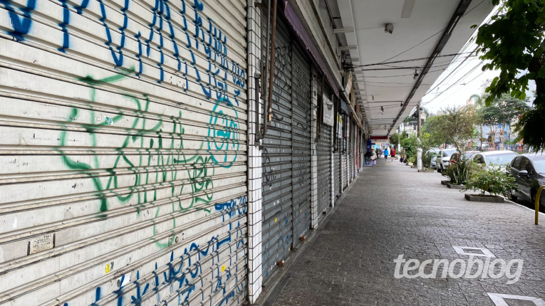 Closed stores (Image: André Fogaça/Tecnoblog)