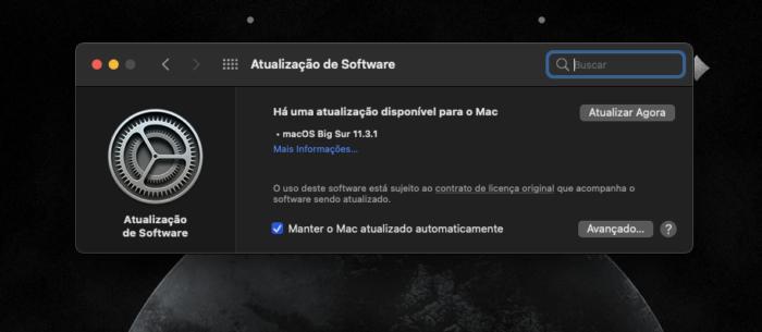 macOS 11.3.1 (Imagem: reprodução/Tecnoblog)