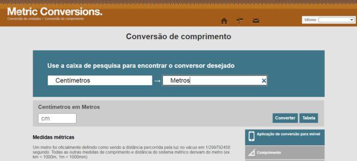 o Metric Conversions conta com informações extras além da conversão desejada (Imagem: Reprodução / Metric Conversions)